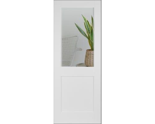 Modern White Shaker 2 Panel Clear Glazed Internal Doors