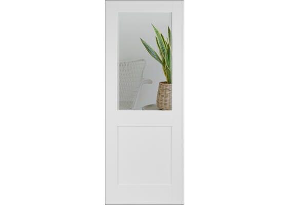 Modern White Shaker 2 Panel Clear Glazed Doors