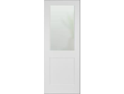 Modern White Shaker 2 Panel - Frosted Glazed Image