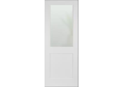 Modern White Shaker 2 Panel Frosted Glazed Internal Doors