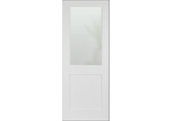 Modern White Shaker 2 Panel Frosted Glazed Doors