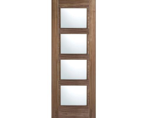 Vancouver Walnut 4l - Clear Prefinished Internal Doors