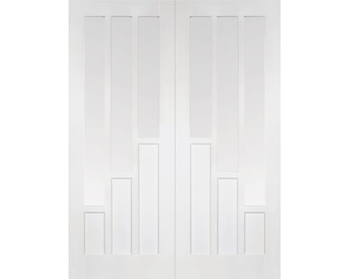 Coventry White Pairs - Clear Glass Internal Doors