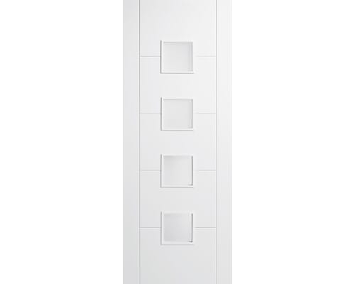 Vancouver White 4 Light Small - Clear Glass Internal Doors