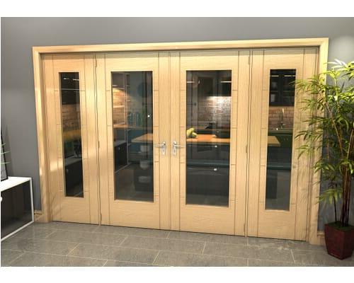 Oak Iseo 1 Light Clear Glazed French Doors