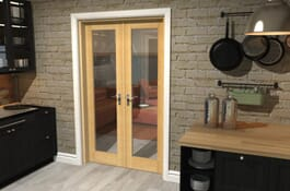 P10 Prefinished Oak Internal French Doors Image
