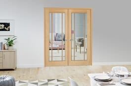 York Prefinished Oak Internal French doors Image