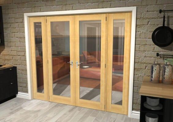 Oak P10 French Door Set 2682mm(W) x 2021mm(H)