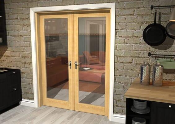 Oak P10 French Door Set 1580mm(W) x 2021mm(H)