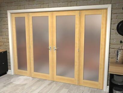 Obscure Glazed Oak Unfinished Room Divider Range Image