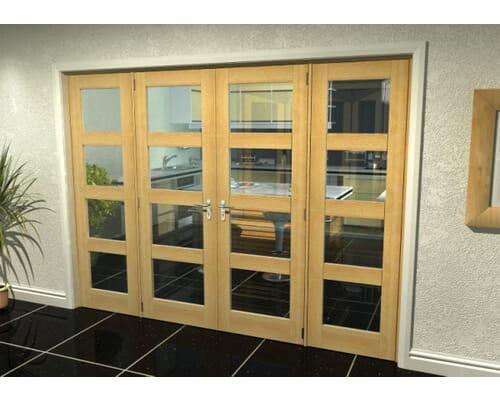 Oak Unfinished Shaker 4l Room Divider Range