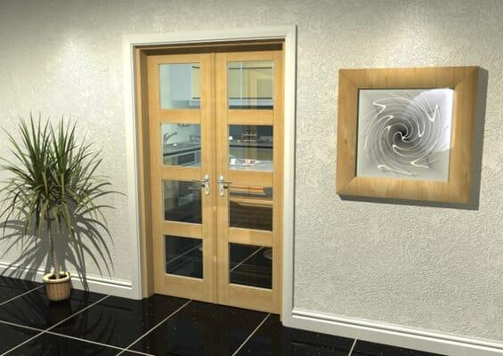 Oak 4L French Door Set 1202mm(W) x 2021mm(H)
