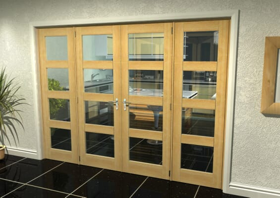 Oak 4L French Door Set 2530mm(W) x 2021mm(H)
