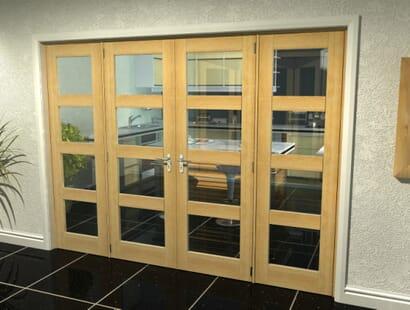 Oak Unfinished Shaker 4l Room Divider Range Image