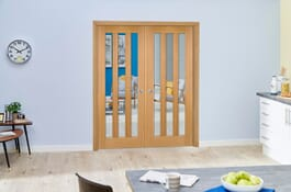 Aston Oak Internal French Doors Image