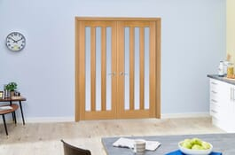 Aston Frosted Oak Internal French Doors Image