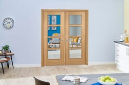 Vancouver 4L Prefinished Internal French Doors Image