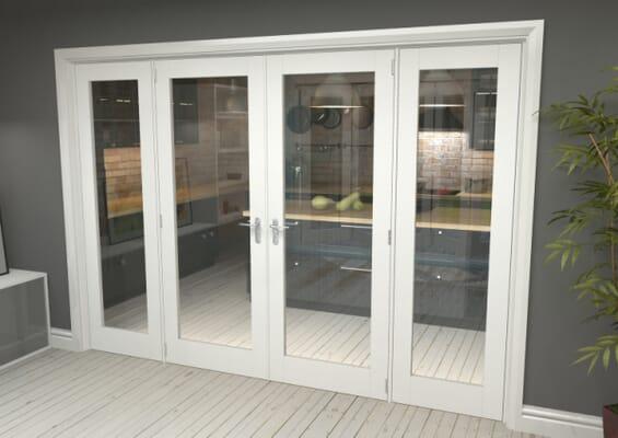 White P10 French Door Set 2000mm(W) x 2021mm(H)