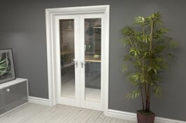 P10 White Internal French Doors Image