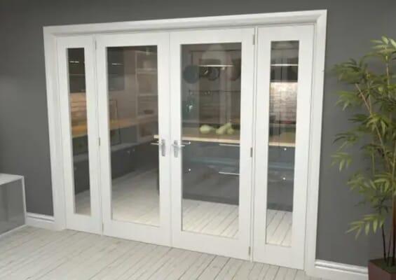 White P10 French Door Set 2530mm(W) x 2021mm(H)