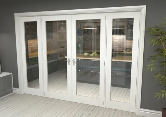 White P10 French Door Set 2684mm(W) x 2021mm(H)