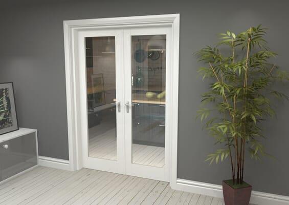 White P10 French Door Set 1426mm(W) x 2021mm(H)