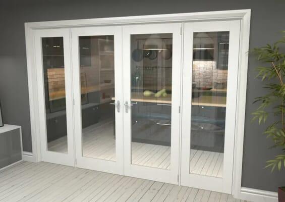 White P10 French Door Set 2836mm(W) x 2021mm(H)