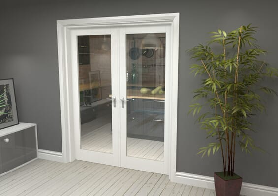 White P10 French Door Set 1580mm(W) x 2021mm(H)