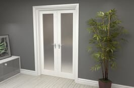 P10 White Frosted Internal French Doors Image