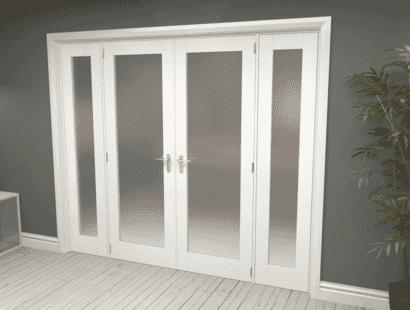 White Primed Frosted P10 Room Divider Range Image
