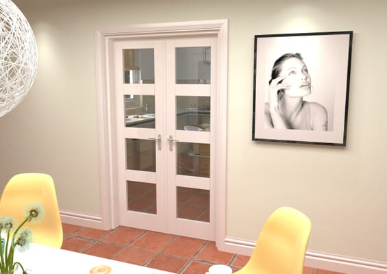 White 4L French Door Set 1276mm(W) x 2021mm(H)