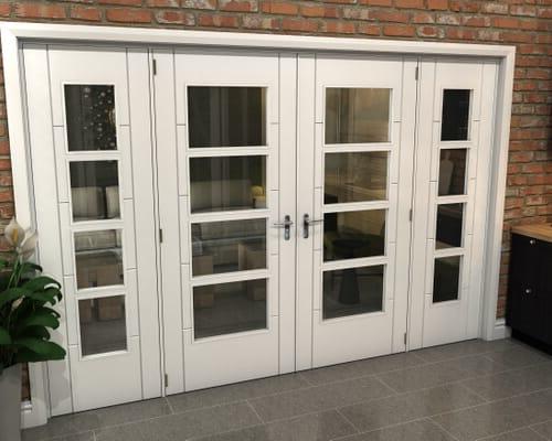 White Iseo 4 Light Clear Glazed French Doors