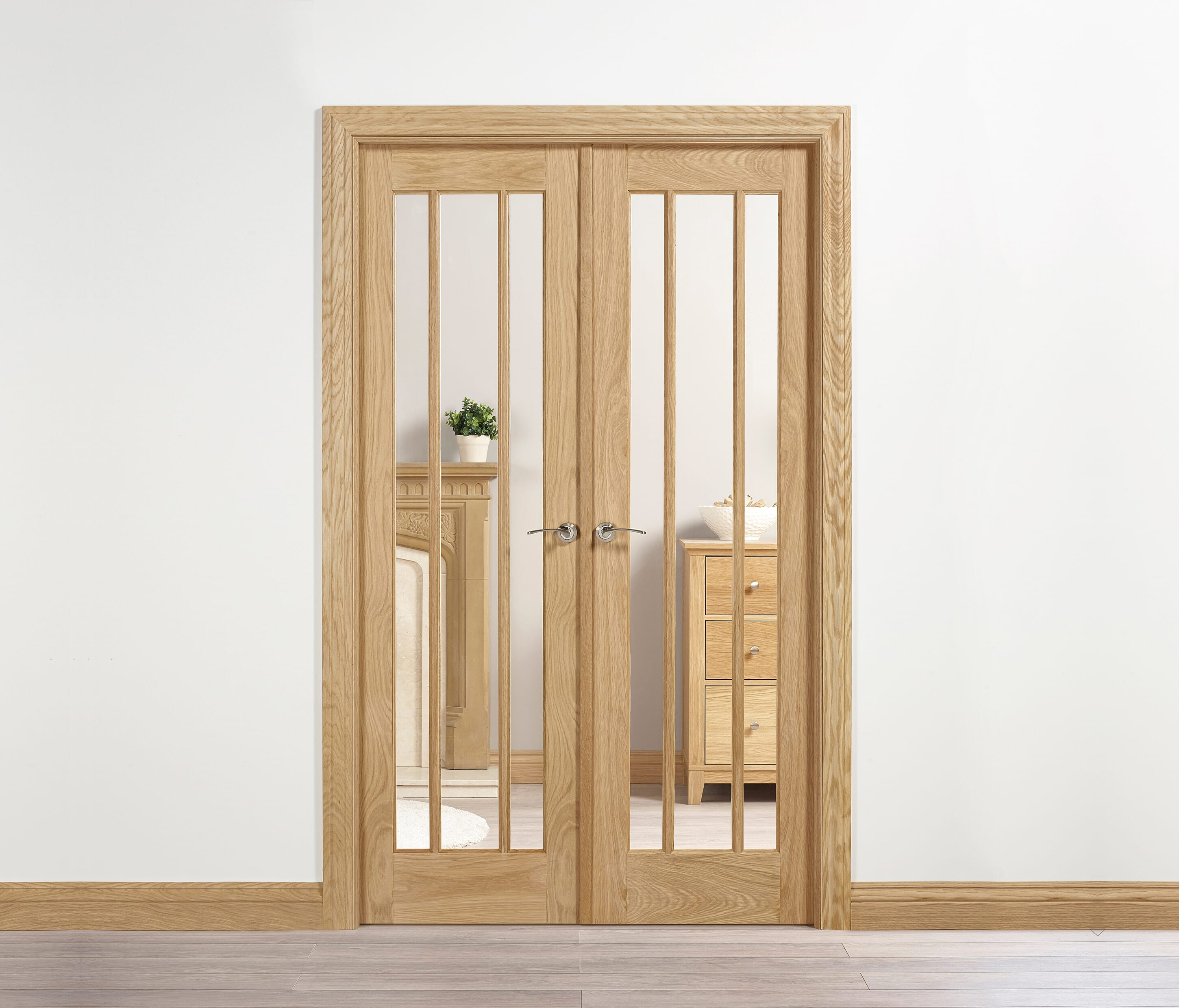 Lincoln Oak Interior French Door Range Express Doors Direct