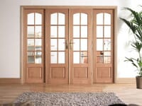 Traditional Oak Interior French Doors Image