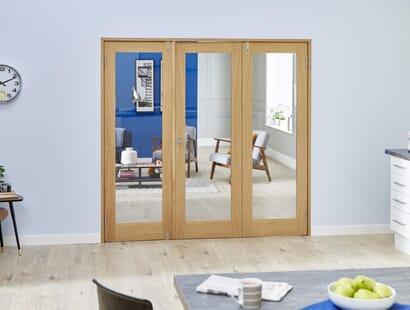 Glazed Oak Shaker Frenchfold Room Divider Image