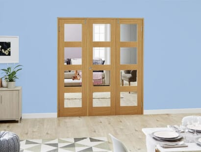 Oak 4l Shaker Frenchfold - Clear Unfinished Image