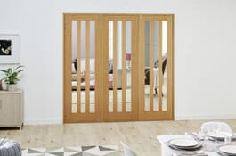 Aston Oak FrenchFold Room Divider Doors Image
