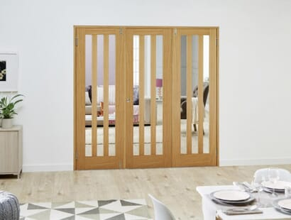 Aston Oak Frenchfold Room Divider Image