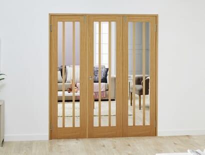 Lincoln Glazed Frenchfold Room Divider Image