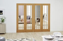 Lincoln Glazed FrenchFold Room Divider Doors Image