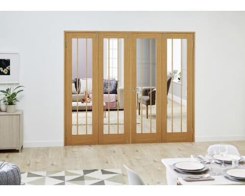 Lincoln Oak French Folding Room Divider
