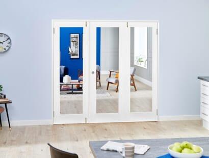 Glazed White Shaker Frenchfold Room Divider Image
