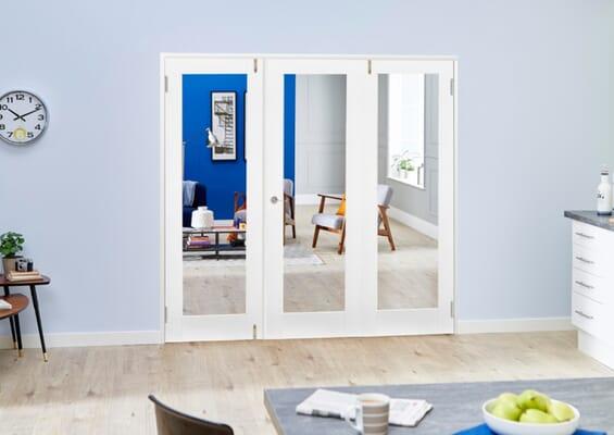 White P10 Folding Room Divider (3 x 610mm Doors)
