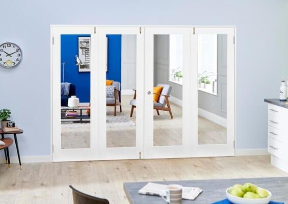 White P10 Folding Room Divider (4 x 533mm Doors)
