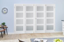 Contemporary White 4L FrenchFold Room Divider Doors Image