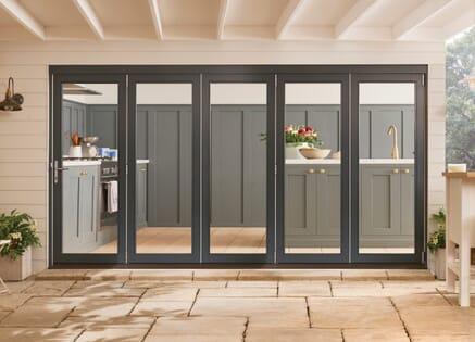 Bedgebury Anthracite Grey Hardwood Bifold Doors
