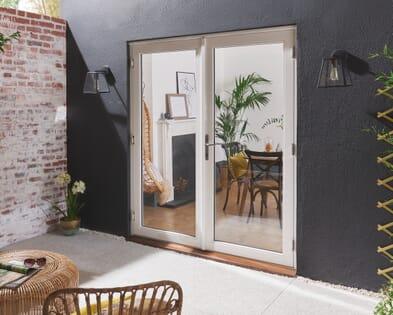 Bedgebury White Hardwood French Doors