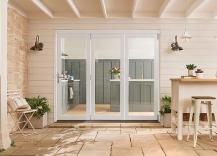 Bedgebury White Hardwood Bifold Doors