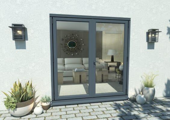 1800mm Part Q Compliant Grey Aluminium French Doors