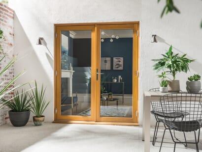 Kinsley Golden Oak French Doors Image